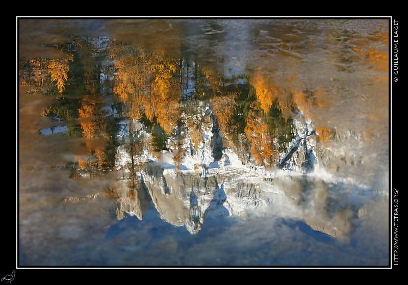 Reflet dans le lac miroir for Lac miroir queyras